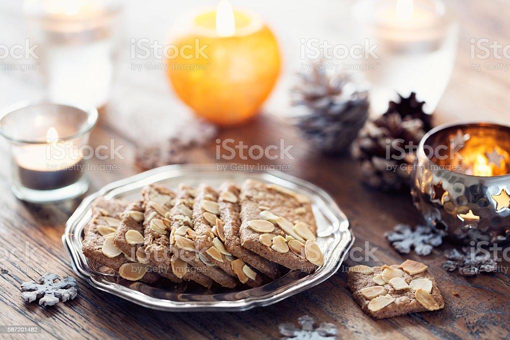 traditionsl christmas cookie Spekulatius stock photo