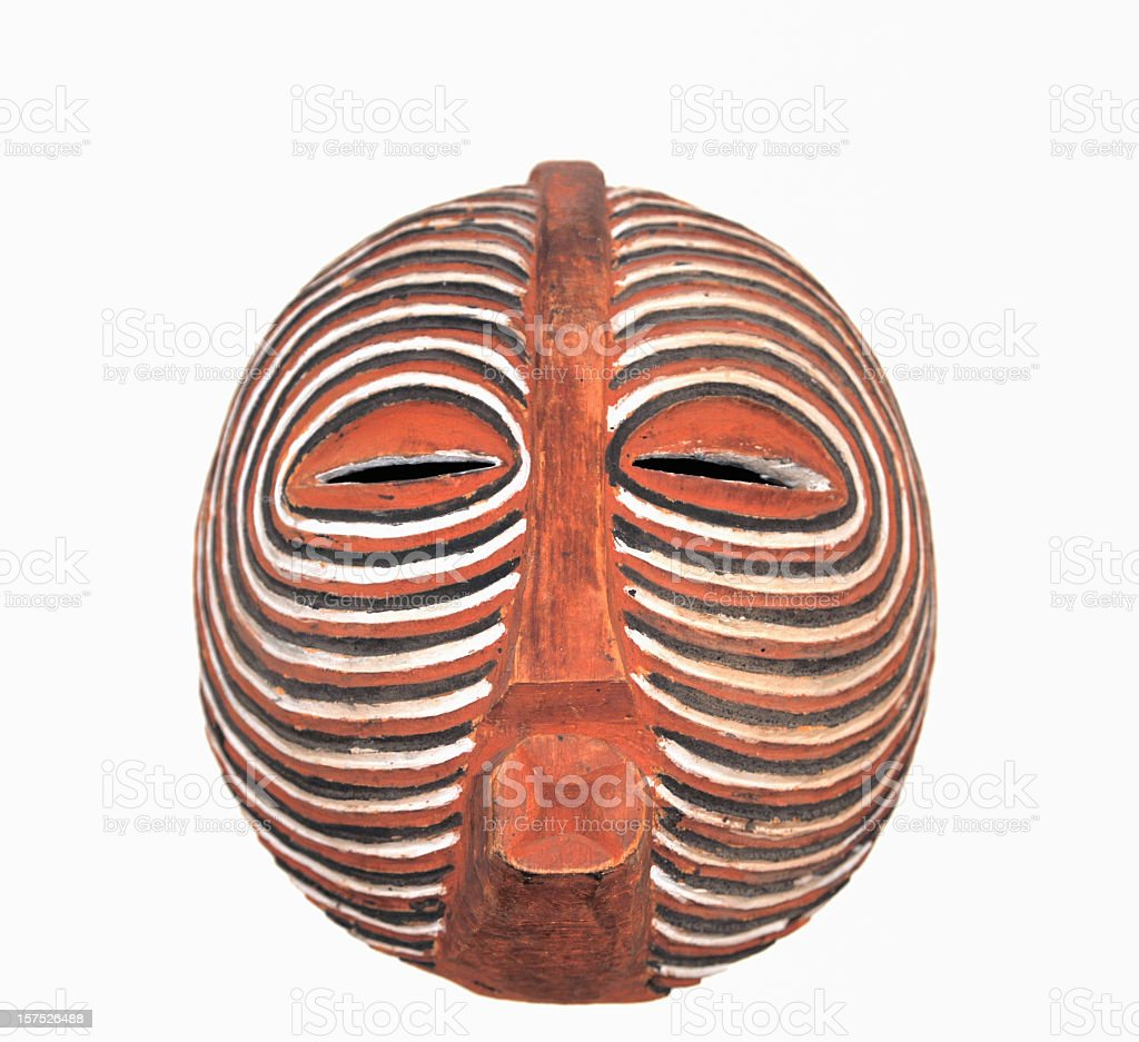 Traditonal African Baluba Kifwebe mask close-up royalty-free stock photo