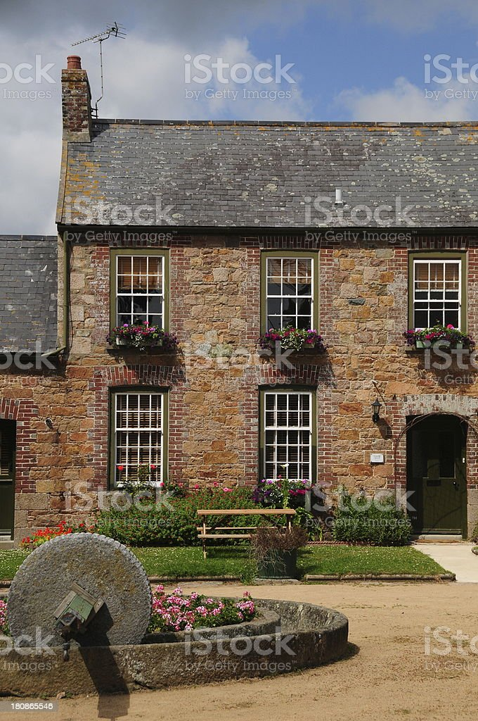 Traditonal farmhouse, U.K. stock photo