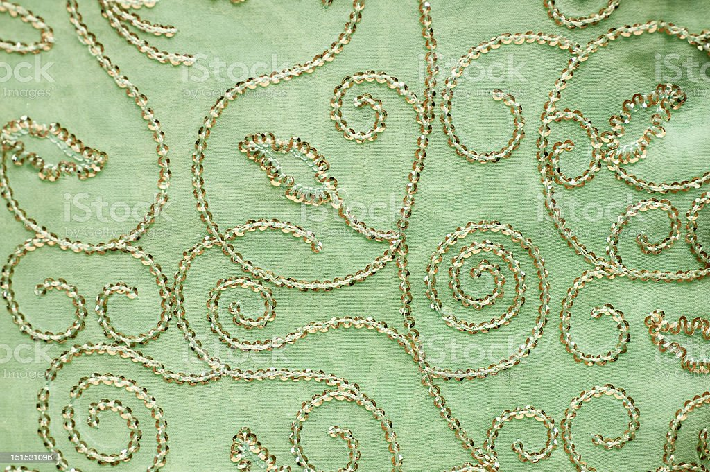 Traditonal Indian embroidered fabric royalty-free stock photo