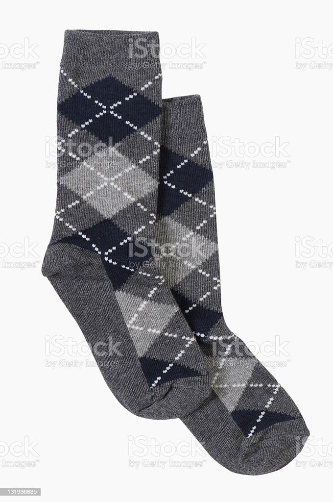 traditonal socks isolated stock photo