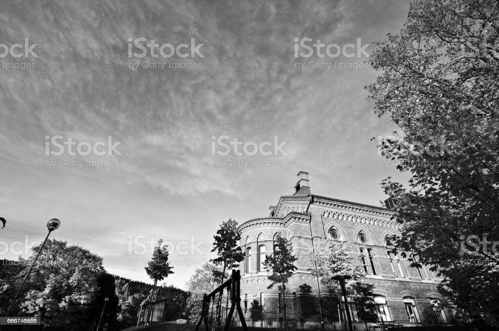 Tradtional European building stock photo