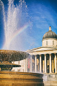 Trafalgar Square Fountain And The National Gallery