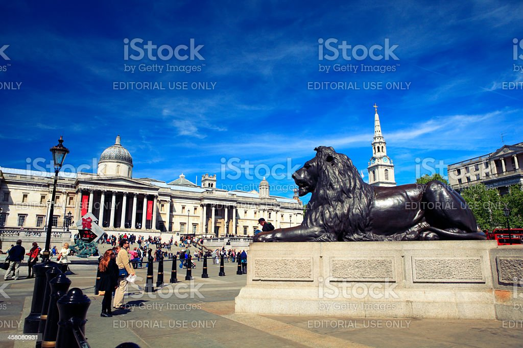 Trafalgar Square in London stock photo