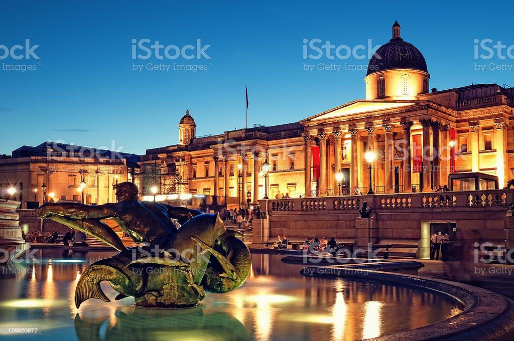 Trafalgar Square, London. stock photo