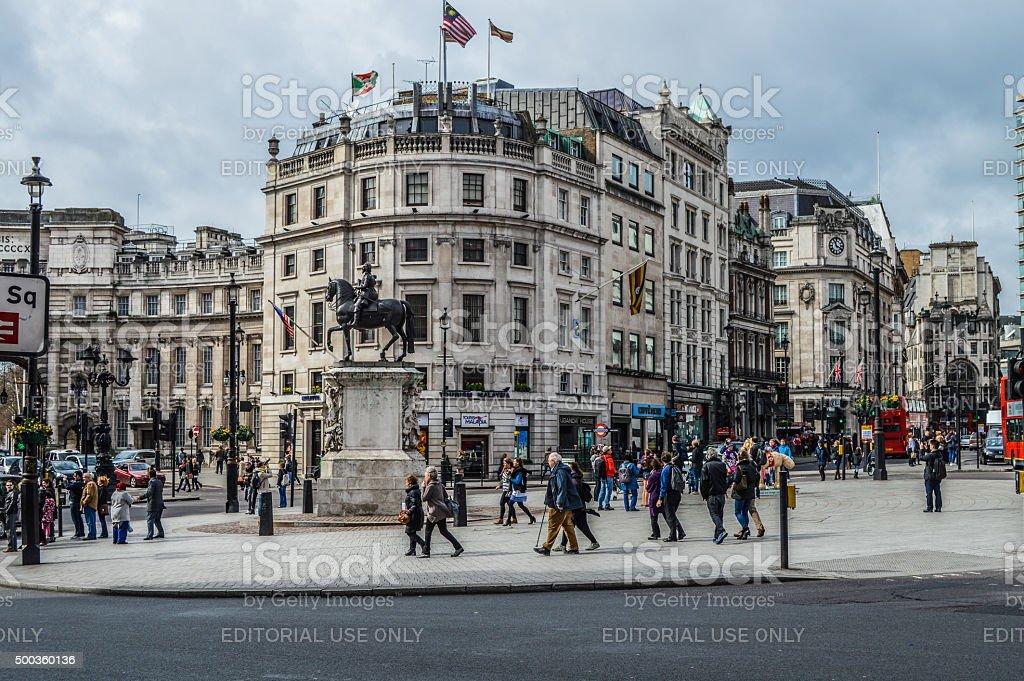 Trafalgar Square - London, UK stock photo