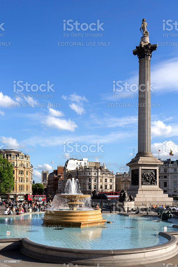 Trafalgar Square royalty-free stock photo