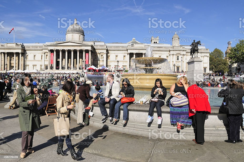 Trafalgar Square with National Gallery royalty-free stock photo