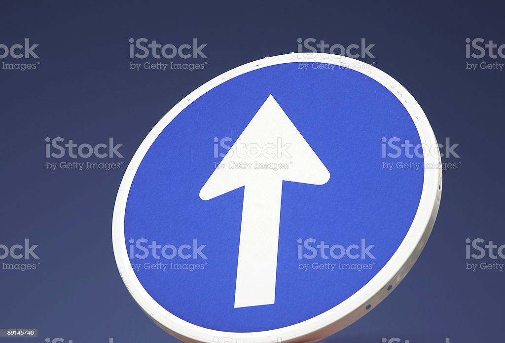 Trafffic One Way Arrow royalty-free stock photo