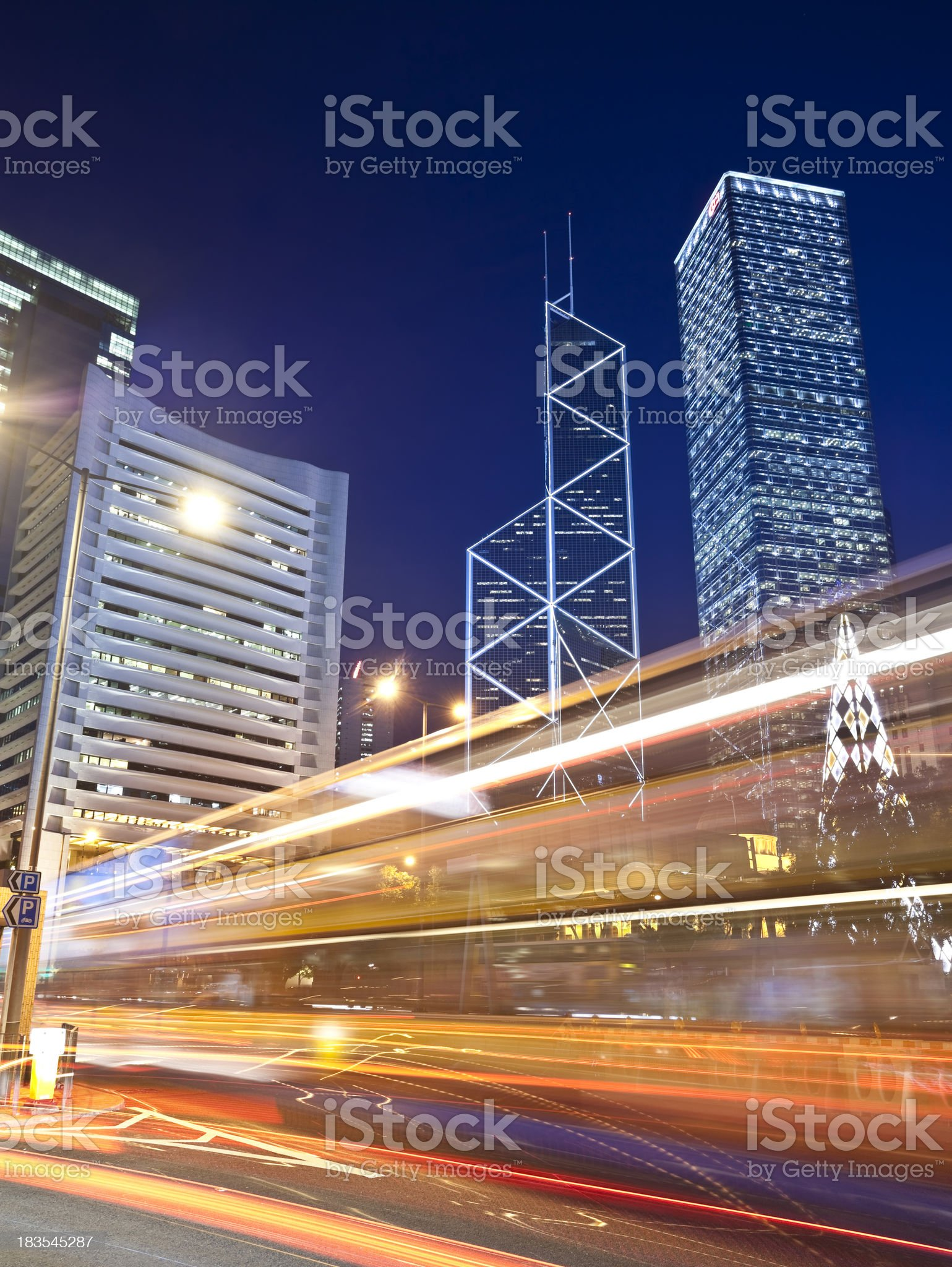 Traffic abstract royalty-free stock photo