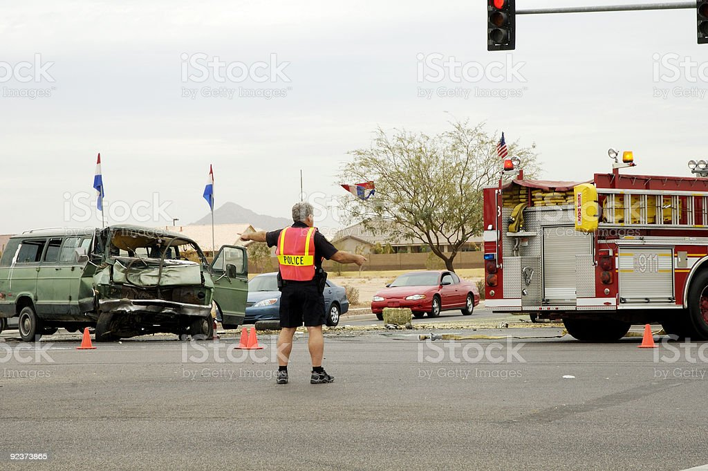 Traffic Accident 4 stock photo