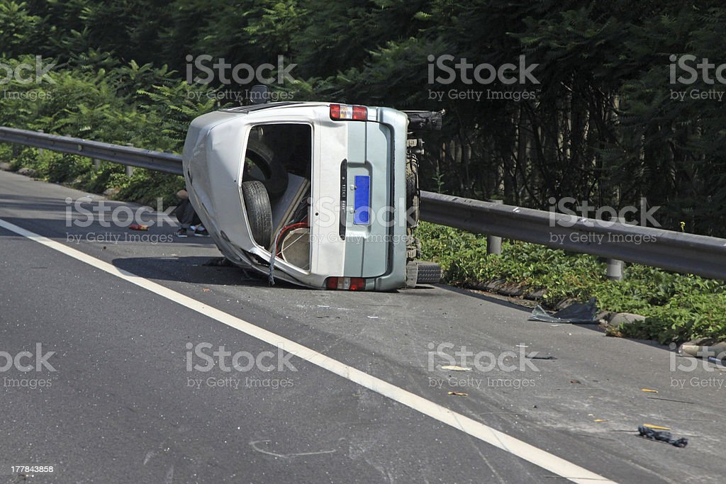 Traffic accident vehicle on Expressway royalty-free stock photo