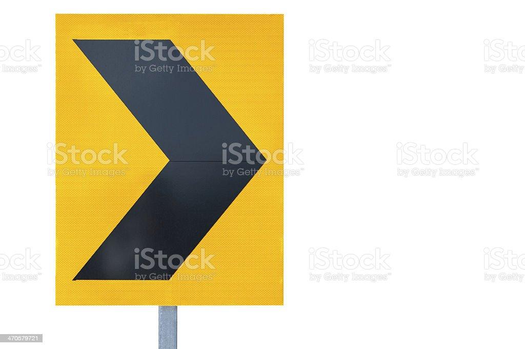 Traffic arrow sign royalty-free stock photo