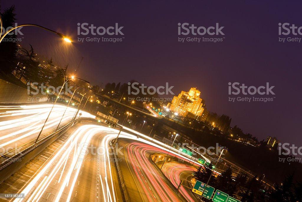 Traffic At An Odd Angle royalty-free stock photo
