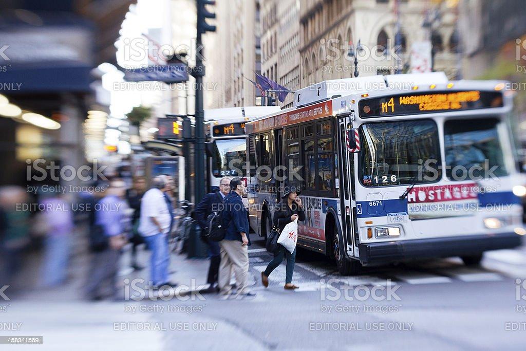 Traffic at Madison Avenue stock photo
