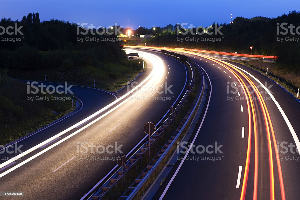 Traffic at night II royalty-free stock photo