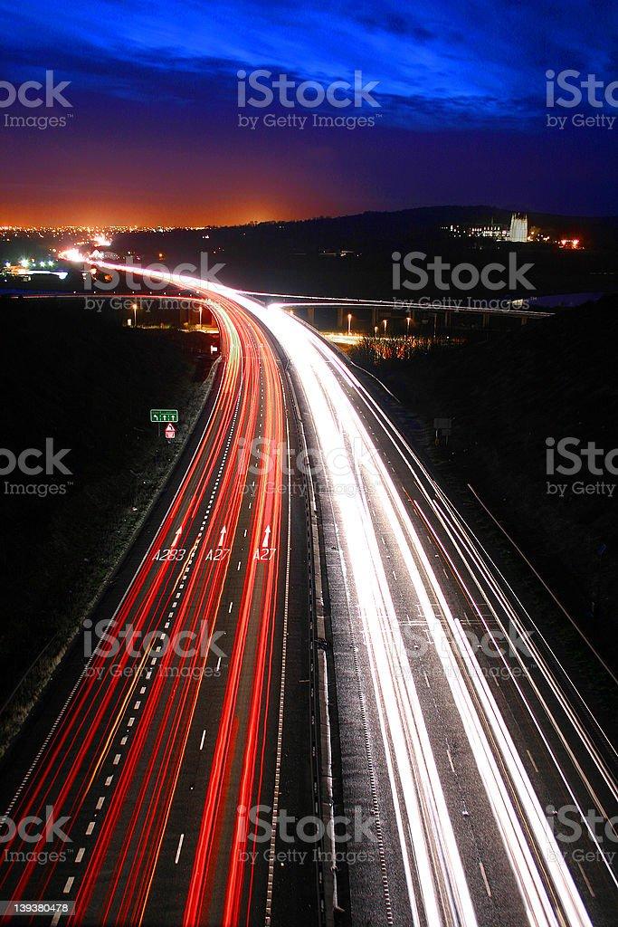 Traffic at night. royalty-free stock photo