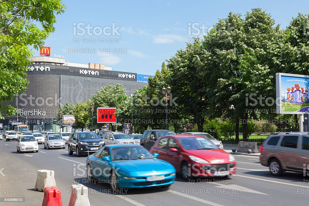 Traffic at Piata Unirii stock photo