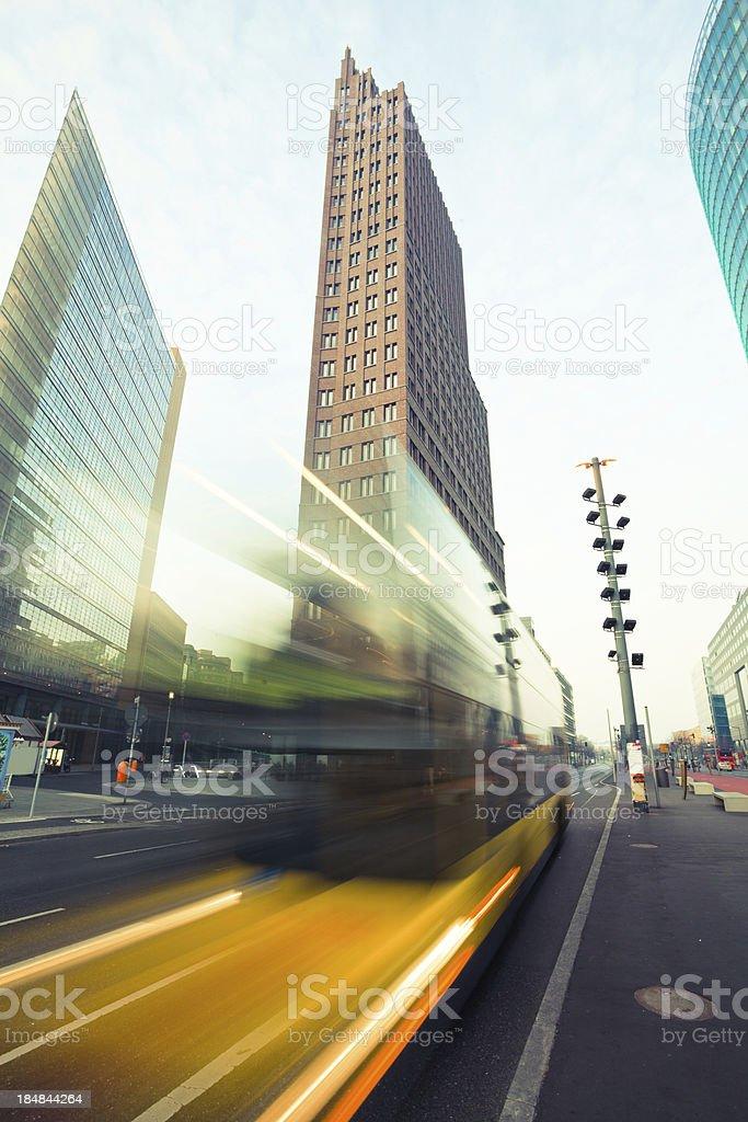 Traffic at Postdamer Platz in Berlin, Germany royalty-free stock photo