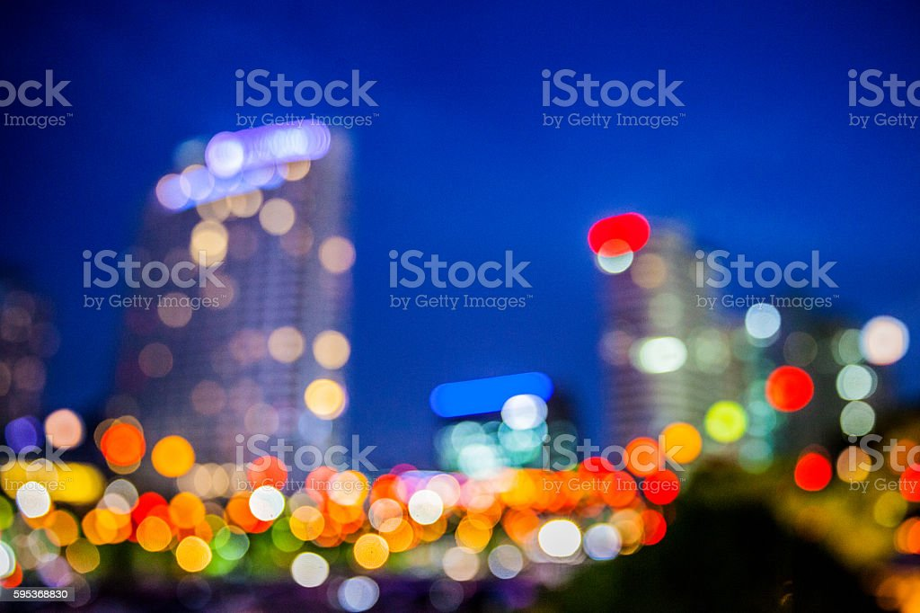 Traffic at rush hour in a big city stock photo