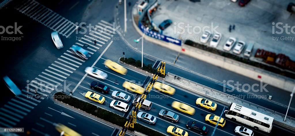 traffic at shanghai china stock photo