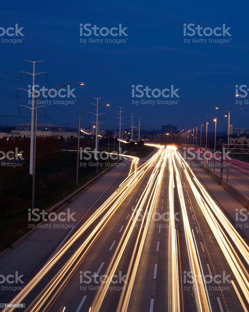 Traffic at Twilight royalty-free stock photo