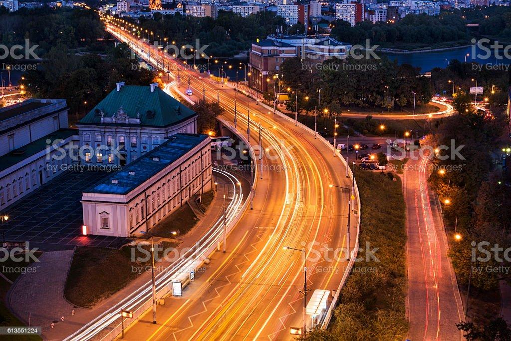 Traffic at Warsaw stock photo