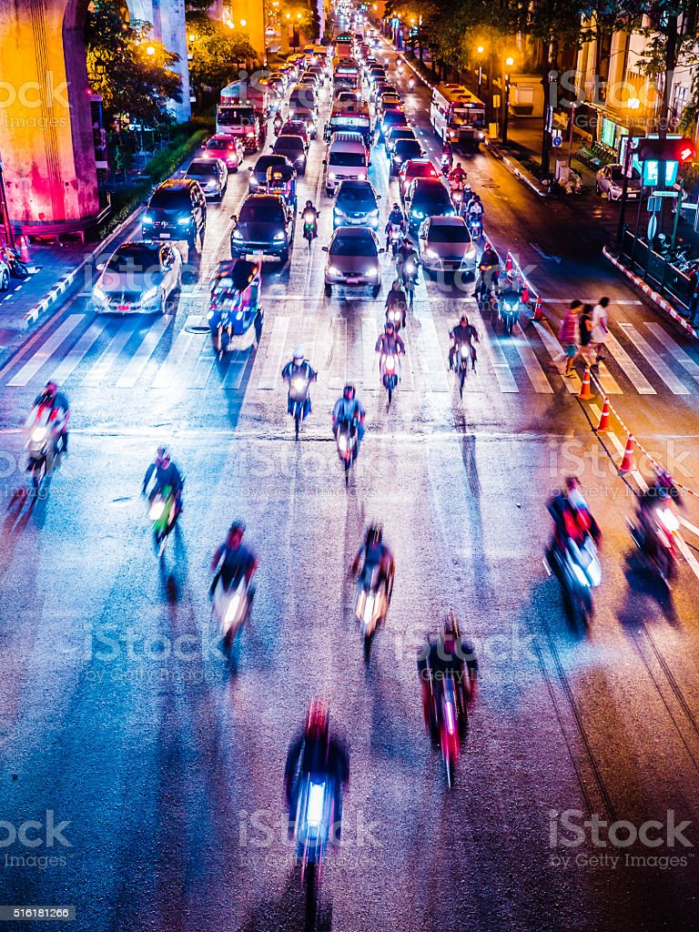 Traffic Bangkok Thailand stock photo