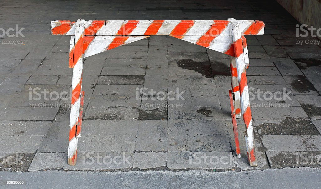 Traffic Barricade stock photo