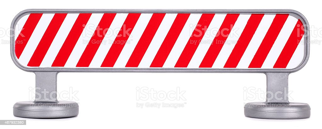 Traffic barrier barricade fence striped stock photo