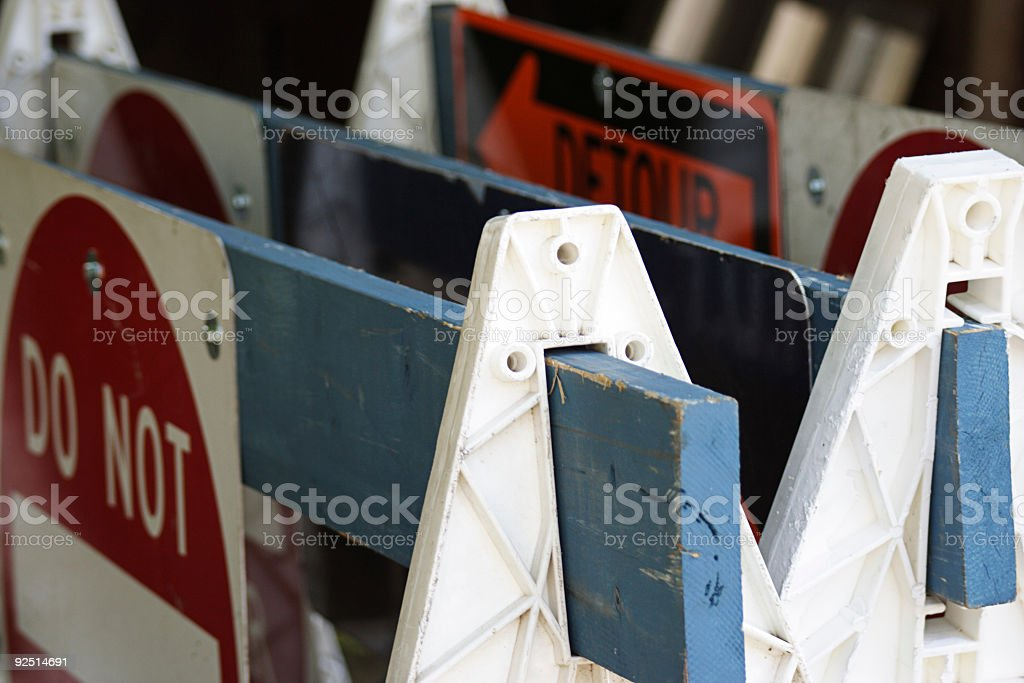 Traffic Barriers stock photo