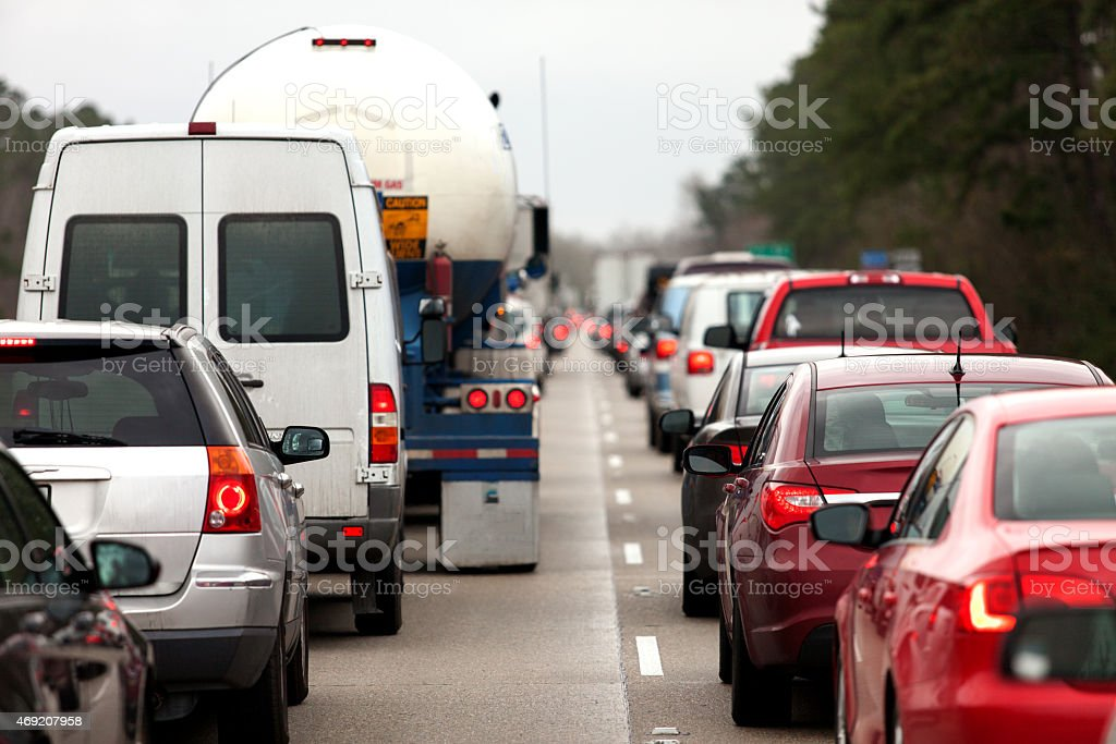 Traffic Block stock photo