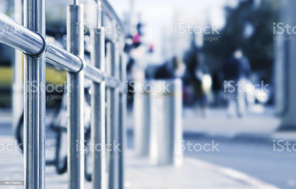 Traffic bollards stock photo
