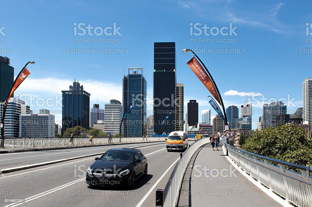 Traffic Bridge Brisbane - G20 Conference stock photo