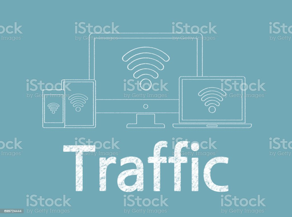 Traffic - Business Chalkboard Background stock photo