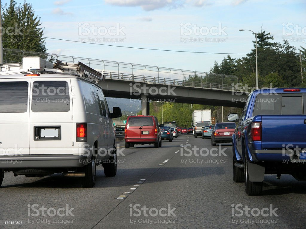 Traffic: Busy Highway royalty-free stock photo