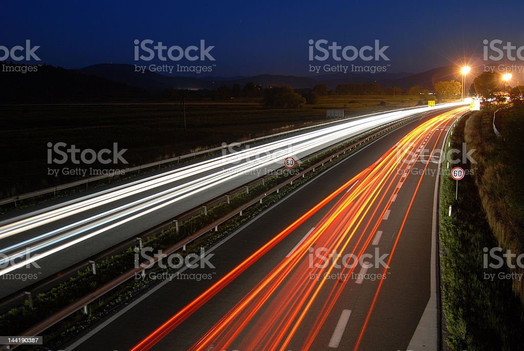 Traffic by night 12 # stock photo