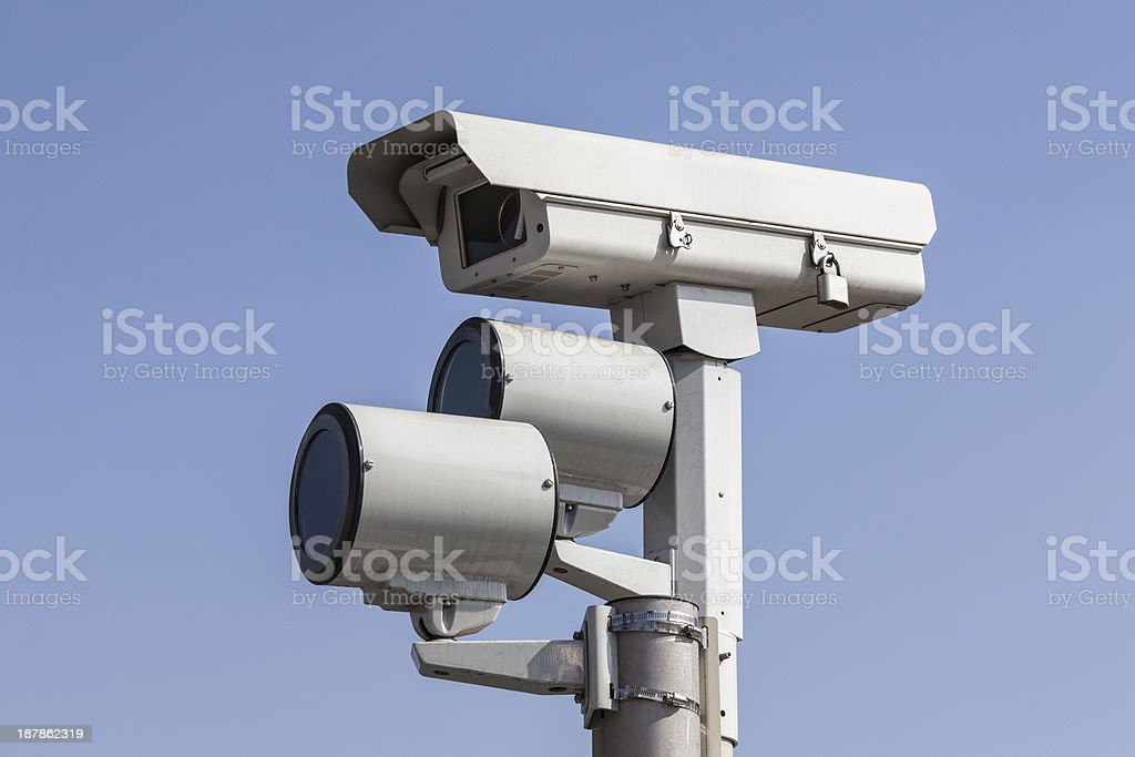 Traffic Camera with Lights stock photo