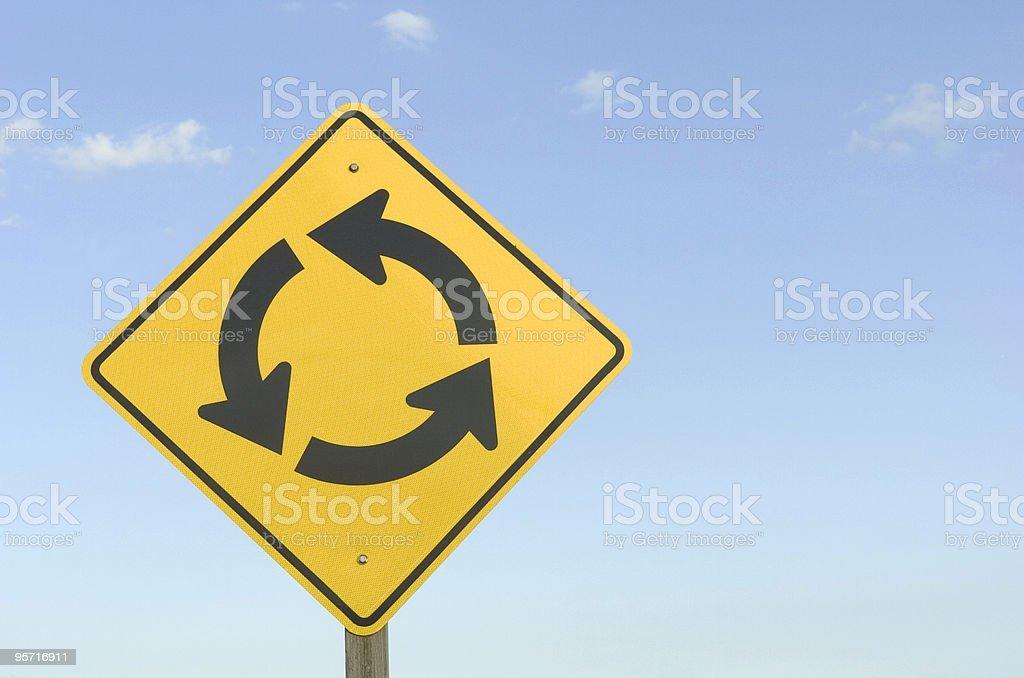 Traffic Circle Sign royalty-free stock photo