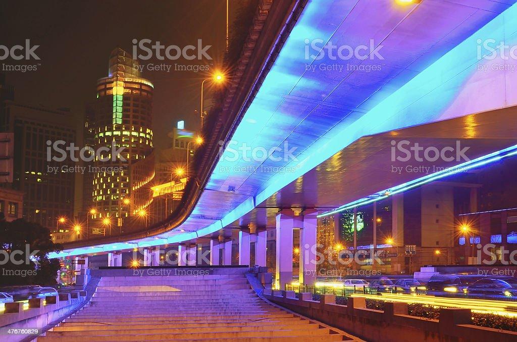 Traffic city night royalty-free stock photo