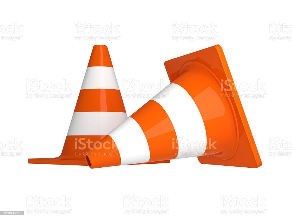 traffic cone 3d stock photo