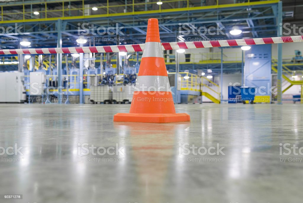 A traffic cone as a sign of limitation royalty-free stock photo