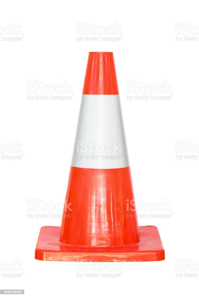 Traffic Cone isolated on white stock photo