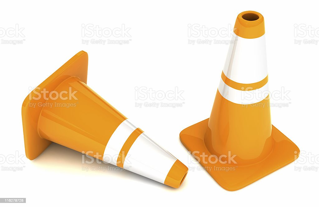 Traffic cone isolated royalty-free stock photo