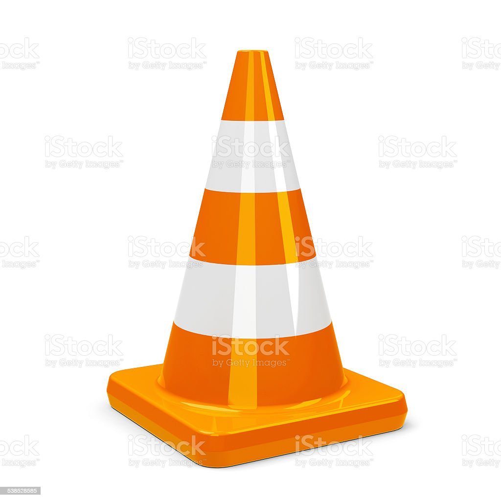 Traffic cone stock photo