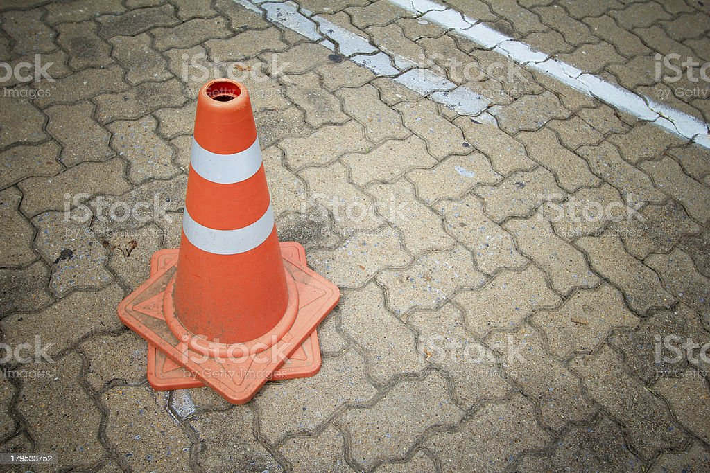 Traffic cone sign royalty-free stock photo