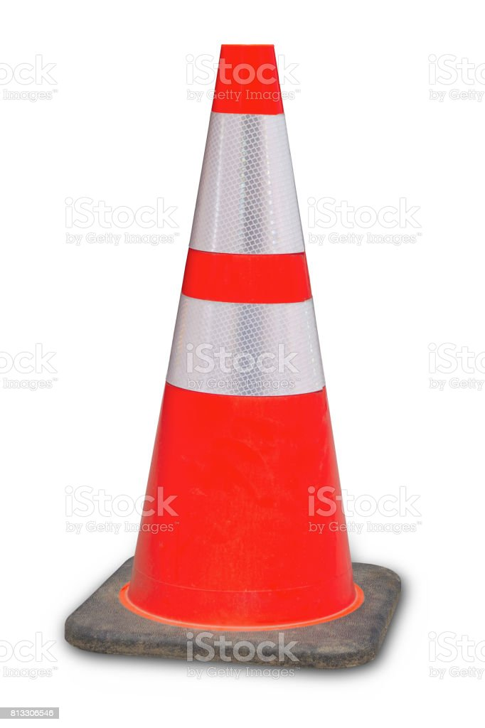 traffic cone under construction web site 404 error orange stock photo