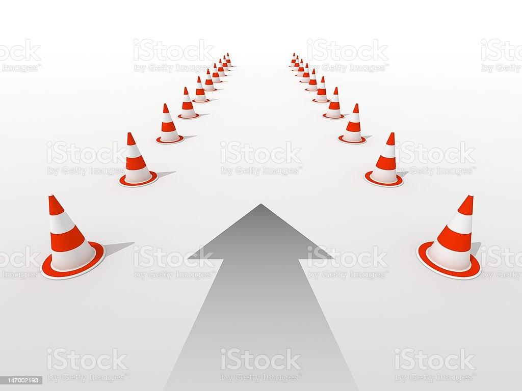 Traffic cones royalty-free stock photo