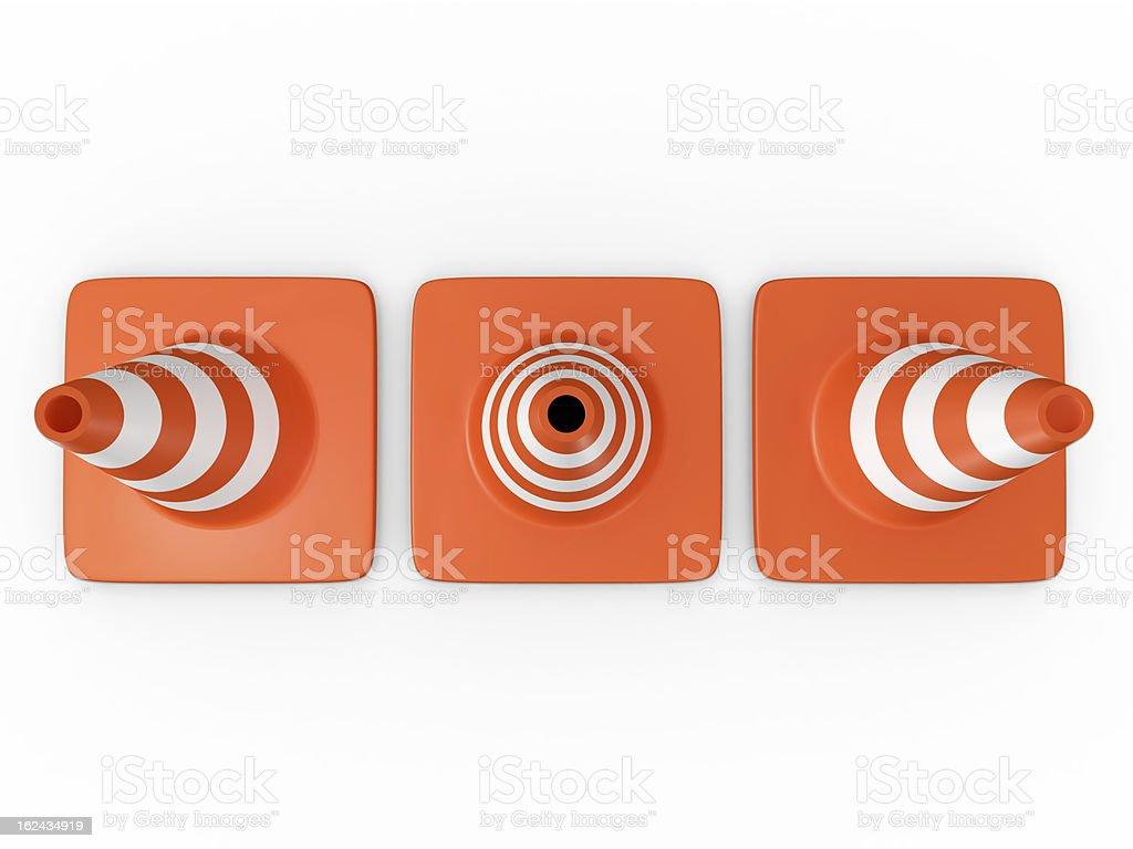 Traffic Cones stock photo