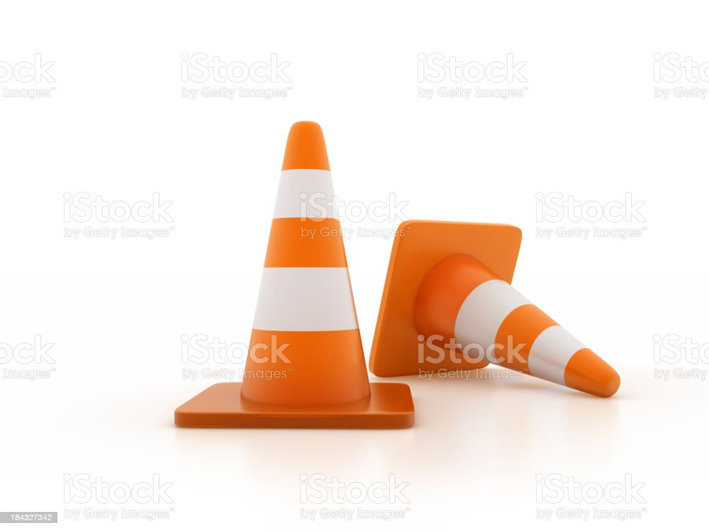 Traffic Cones royalty-free stock photo